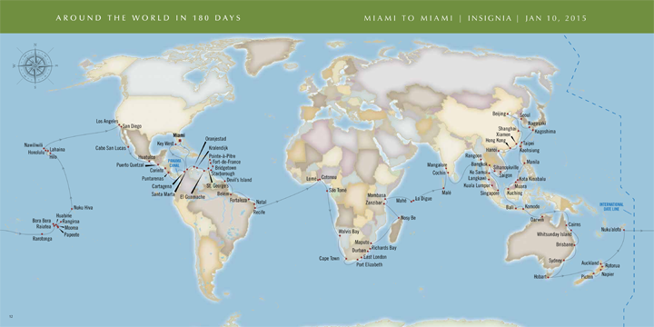 2015 World Cruise Map